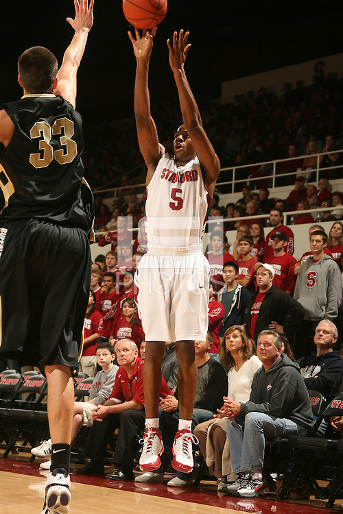 Stanford, CA - NOVEMBER 29:  Guard Jeremy Green #5 of the Stanford Cardinal during Stanford's 76-62 win against the Colorado Buffaloes in the Big 12/Pac-10 Hardwood Series on November 29, 2008 at Maples Pavilion in Stanford, California.