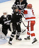 Jon Gillies (PC - 32), Mark Adams (PC - 4), Ben Rosen (BU - 8) - The Boston University Terriers defeated the visiting Providence College Friars 4-2 (EN) on Saturday, December 13, 2012, at Agganis Arena in Boston, Massachusetts.