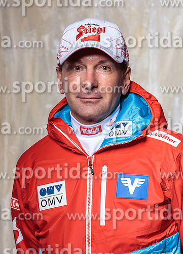08.10.2016, Olympia Eisstadion, Innsbruck, AUT, OeSV Einkleidung Winterkollektion, Portraits 2016, im Bild Harald Rodelauer, Skisprung, Herren Trainer // during the Outfitting of the Ski Austria Winter Collection and official Portrait Photoshooting at the Olympia Eisstadion in Innsbruck, Austria on 2016/10/08. EXPA Pictures © 2016, PhotoCredit: EXPA/ JFK