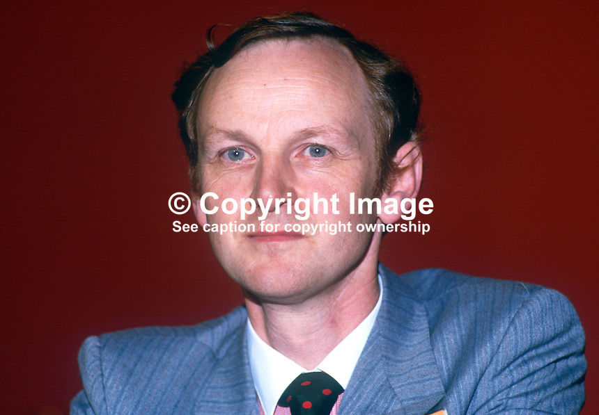 Paul Tyler PPC, prominent member, Liberal Party, UK, annual conference, September 1986. 19860920PT1<br />
