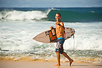 North Shore/Oahu/Hawaii (Saturday, November 20, 2011) –CJ Hobgood (USA) after a  free surfing session at Rocky Point.  Photo: joliphotos.com