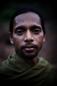 Mukuli Sikaka poses for a portrait in Salpojola village in Niyamgiri hills. He is one of the many people who will get displaced if the aluminium company Vedanta carries on with its plans of mining of Bauxide in Niyamgiri hills in Rayagara district of Orissa in India.