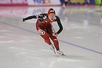 SCHAATSEN: CALGARY: Olympic Oval, 09-11-2013, Essent ISU World Cup, 500m, Shuang Zhang (CHN), ©foto Martin de Jong