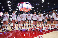 STANFORD, CA - August 28, 2016: Atmosphere at Maples Pavilion. The Stanford Cardinal defeated the University of Minnesota 3-1.