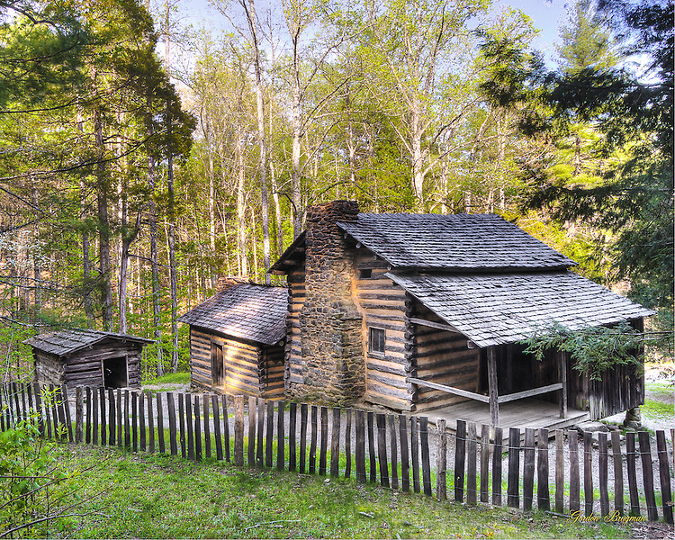 Elijah Oliver Cabin in Cades Cove, Great Smoky Mountains National Park.
