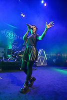 MIAMI BEACH, FL - NOVEMBER 13: Deena Jakoub of VERIDIA performs on stage at Fillmore Miami Beach on November 13, 2016 in Miami Beach, Florida. Credit: MPI10 / MediaPunch