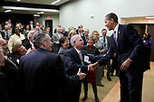 United States President Barack Obama greets audience members after delivering remarks at the annual U.S. Department of Agriculture Regional Appointee meeting in the Eisenhower Executive Office Building South Court Auditorium, February 21, 2012. .Mandatory Credit: Pete Souza - White House via CNP