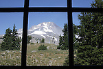 "Mount Hood through window at Timberline Lodge Oregon, Mt. Hood, Mt. Hood through window, Oregon, Pacific Ocean, Plains, woods, mountains, rain forest, desert, rain, Pacific Northwest, Fine art Photography and Stock Photography by Ronald T. Bennett Photography ©, FINE ART and STOCK PHOTOGRAPHY FOR SALE, CLICK ON  ""ADD TO CART"" FOR PRICING,"