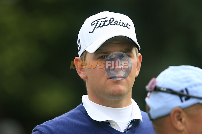 Bernd Wiesberger (AUT) arrives on the 1st tee to start his round on Day 2 of the BMW PGA Championship Championship at, Wentworth Club, Surrey, England, 27th May 2011. (Photo Eoin Clarke/Golffile 2011)