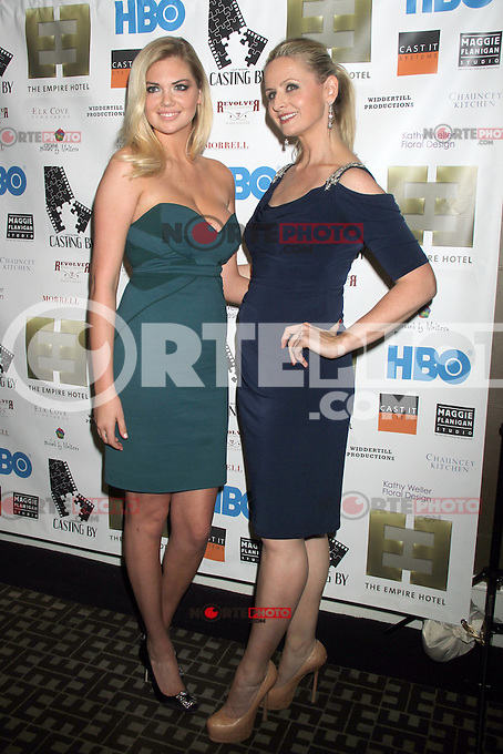 NEW YORK, NY - OCTOBER 12: Kate Upton and Kate Lacey at the premiere party for HBO Documentary Films ?Casting By,? at the Empire Hotel in New York City. October 12, 2012. © RW/MediaPunch Inc. /NortePhotoAgency