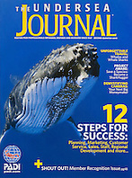 PADI - The Undersea Journal Magazine, second quarter 2010, cover use, USA, Image ID: Humpback-Whale-0011