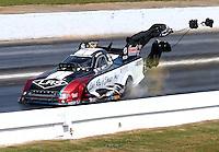 May 16, 2015; Commerce, GA, USA; NHRA funny car driver Tim Wilkerson during qualifying for the Southern Nationals at Atlanta Dragway. Mandatory Credit: Mark J. Rebilas-USA TODAY Sports