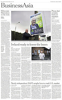 Tearsheet of &quot;House Repossessions in Ireland&quot; published in the International Herald Tribune