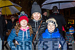 Enjoying the switching on of the christmas lights in Castleisland on Saturday were Molly O'Mahony, Kathleen O'Mahony, Freddie O'Mahony