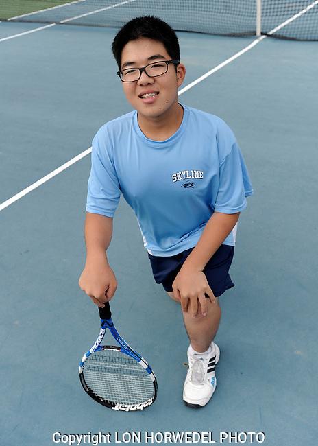 Skyline High School boy's junior varsity tennis team, 10-7-14.