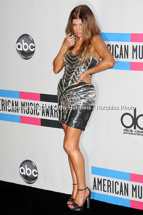 LOS ANGELES - NOV 21:  Fergie aka Stacey Ferguson in the Press Room of the 2010 American Music Awards at Nokia Theater on November 21, 2010 in Los Angeles, CA