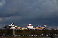 KANSAS CITY, MO - DECEMBER 14:   Storm blowing over Arrowhead Stadium, home of the Kansas City Chiefs, before a game against the San Diego Chargers on December 14, 2008 in Kansas City, Missouri.  The Chargers defeated the Chiefs 22-21.  (Photo by Wesley Hitt/Getty Images) *** Local Caption ***