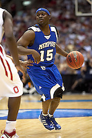 SAN ANTONIO, TX - MARCH 24, 2007: The University of Memphis Tigers vs. The Ohio State University Buckeyes in the NCAA Men's Basketball South Regional Championship Game in the Alamodome. (Photo by Jeff Huehn)