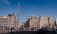 The De Dam square in Amsterdam (Holland, 17/04/2011)