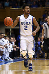 08 November 2014: Duke's Quinn Cook. The Duke University Blue Devils hosted the University of Central Missouri Mules at Cameron Indoor Stadium in Durham, North Carolina in an NCAA Men's Basketball exhibition game. Duke won the game 87-47.