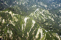 An areial view of landslides caused by Huricane Stan,  Sierra Madre of Chiapas