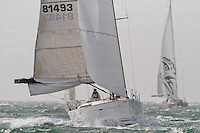 Bird on the Wing sailed by Brent Marshall and Phil Houghton at the Wellington restart of Round North Island two-handed yacht race. Wellington, New Zealand. 2 March 2011. Photo: Gareth Cooke/Subzero Images