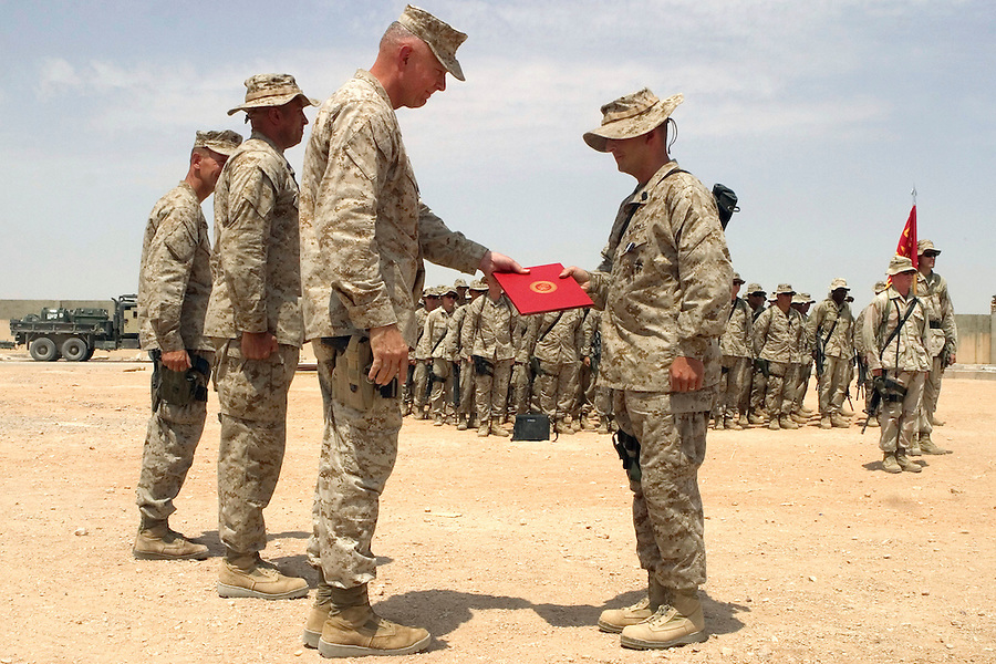 Charlie Co. First Sergeant Justin Lehew recipient of the Navy Cross for the battle of Nasiriyah.