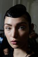 SEP 30 BERNARD CHANDRAN backstage at Paris Fashion Week