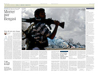 Tearsheet of &quot;Libya: Morrer por Benghazi&quot; published in Expresso
