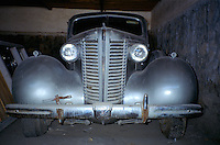 The King Packard Twelve in the bunker build by UNESCO in the courtyard of the Afghan Kabul National museum in 1991