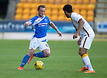 St Johnstone v Bradford City&hellip;19.07.16  McDiarmid Park, Perth. Pre-season Friendly<br />Chris Kane is closed down by Nathanial Knight-Percival<br />Picture by Graeme Hart.<br />Copyright Perthshire Picture Agency<br />Tel: 01738 623350  Mobile: 07990 594431