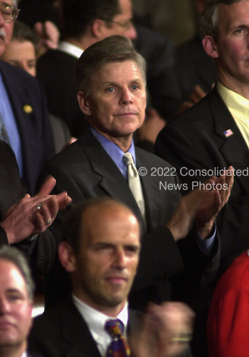 Washington, DC - September 20, 2001 -- U.S. Representative Gary A. Condit (D-18-California) applauds the arrival of U.S. President George W. Bush prior to his giving a speech before a Joint Session of Congress to detail his plan to combat terrorism..Credit: Ron Sachs / CNP