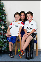 BNPS.co.uk (01202 558833)<br /> Pic: RachelAdams/BNPS<br /> <br /> Leon Meal-Moss with brother Marcel (6) and mum Katell Meal. <br /> <br /> Perfect gift for Xmas...