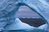 Ice Arch I - Ice sculptures along the Antarctic Sound