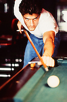 man playing pool in a New York bar