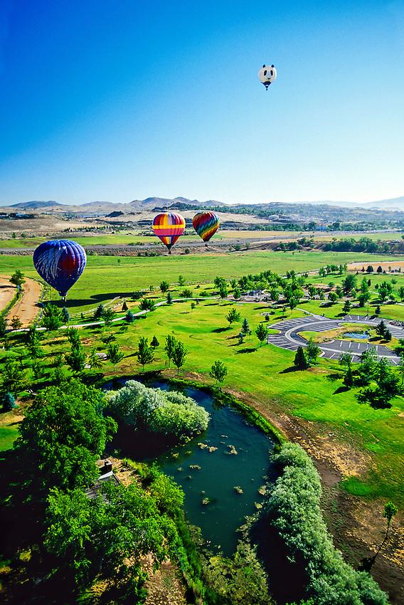 Hot air balloons, Rancho San Rafael, Reno, Nevada USA