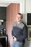 Designer Hubert Zandberg in his Paris apartment