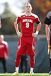 27 November 2011: Indiana's Alec Purdie. The University of North Carolina Tar Heels defeated the Indiana University Hoosiers 1-0 in overtime at Fetzer Field in Chapel Hill, North Carolina in an NCAA Men's Soccer Tournament third round game.