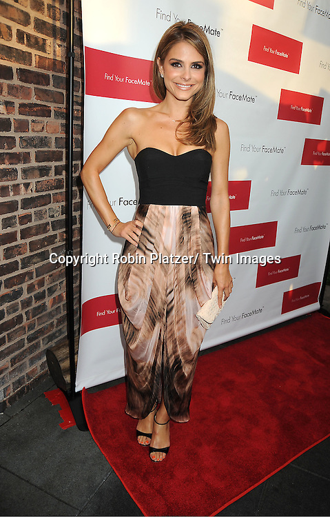 Maria Menounos in Wish dress attends the official launch of www.findyourfacemate.com which was hosted by Maria Menounos on July 10, 2012 at STK Rooftop in New York City.