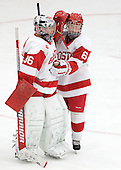 Alissa Fromkin (BU - 36), Shannon Doyle (BU - 6) - The Boston University Terriers defeated the visiting Union College Dutchwomen 6-2 on Saturday, December 13, 2012, at Walter Brown Arena in Boston, Massachusetts.