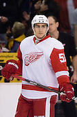 Valtteri Filppula (Detroit Red Wings, #51) at warm up during ice-hockey match between Los Angeles Kings and Detroit Red Wings in NHL league, February 28, 2011 at Staples Center, Los Angeles, USA. (Photo By Matic Klansek Velej / Sportida.com)