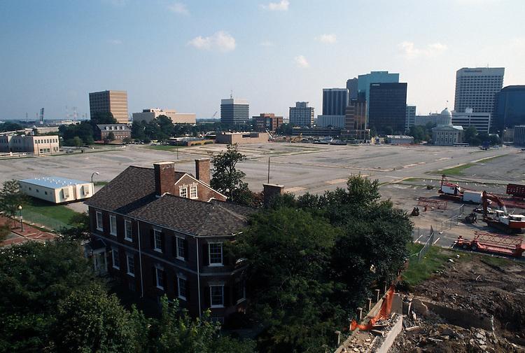 1996 August 31..Redevelopment..Macarthur Center.Downtown North (R-8)..PROGRESS.FROM FREEMASON GARAGE...NEG#.NRHA#..