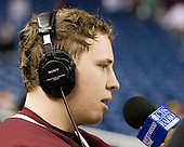 Cam Atkinson (BC - 13) - The Boston College Eagles defeated the Miami University RedHawks 7-1 in the 2010 NCAA Frozen Four Semi-Final on Thursday, April 8, 2010, at Ford Field in Detroit, Michigan.