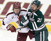 Michael Matheson (BC - 5), Dustin Walsh (Dartmouth - 22) - The Boston College Eagles defeated the visiting Dartmouth College Big Green 6-3 (EN) on Saturday, November 24, 2012, at Kelley Rink in Conte Forum in Chestnut Hill, Massachusetts.