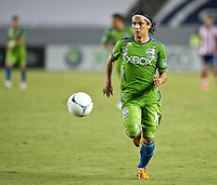 CARSON, CA - August 25, 2012: Seattle forward Fredy Montero (17) during the Chivas USA vs Seattle Sounders match at the Home Depot Center in Carson, California. Final score, Chivas USA 2, Seattle Sounders 6.