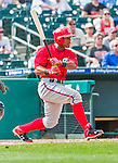 10 March 2015: Washington Nationals infielder Wilmer Difo in Spring Training action against the Miami Marlins at Roger Dean Stadium in Jupiter, Florida. The Marlins edged out the Nationals 2-1 on a walk-off solo home run in the 9th inning of Grapefruit League play. Mandatory Credit: Ed Wolfstein Photo *** RAW (NEF) Image File Available ***