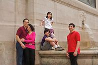 A casual family portrait taken in Riverside Park.
