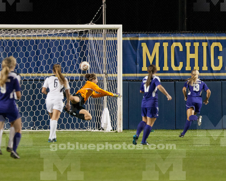 The University of Michigan women's soccer team lost to Northwestern, 1-0, at the UM Soccer Complex in Ann Arbor, Mich., on October 8, 2011..