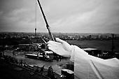 Swiebodzin 04.11.2010 Poland<br /> Part of the arms of a statue of Jesus being built stands in Swiebodzin, 110 km (68 miles) west of Poznan, western Poland. The statue, whose body is 33 metres (108 ft) tall, is expected to be completed in November.<br /> Photo: Adam Lach / Newsweek Polska / Napo Images<br /> <br /> Fragment dloni najwyzszego na swiecie posagu Jezusa Chrystusa w Swiebodzinie ufundowanego prze lokalnego ksiedza Sylwestra Zawadzkiego.<br /> Fot: Adam Lach / Newsweek Polska / Napo Images