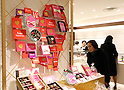 Chocolate fair at department store prior to Valentine's Day